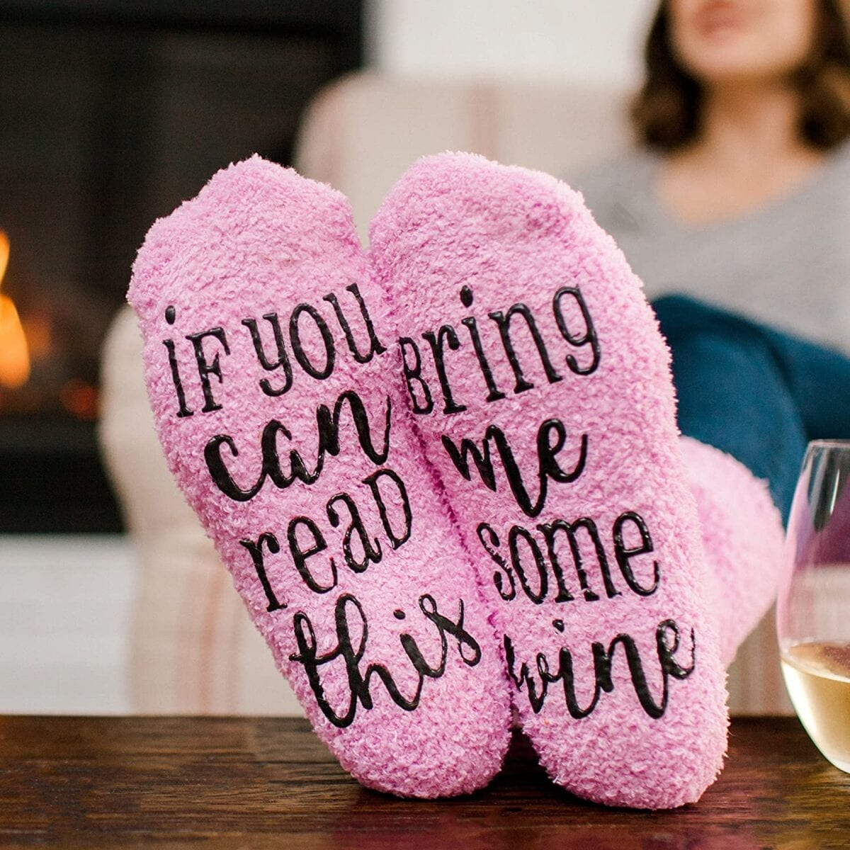 Bring Me Wine Socks    Mothers Day Gift Ideas