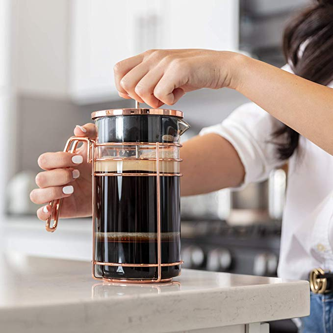 Rose Gold French Press   Mothers Day Gift Ideas