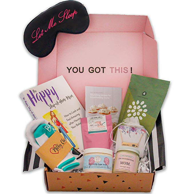 New Mom Gift Basket Box   Mothers Day Gift Ideas