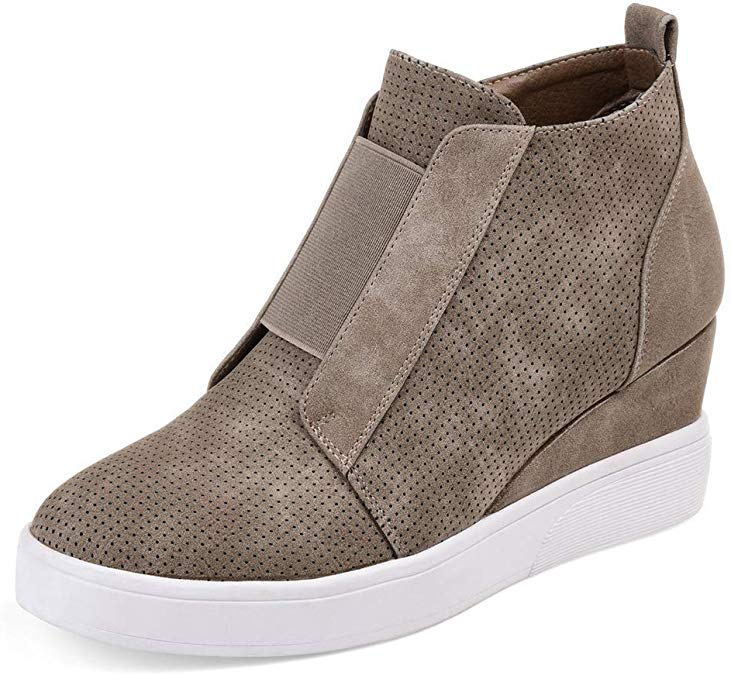 Wedge Sneaker Booties   Fall Outfit Ideas