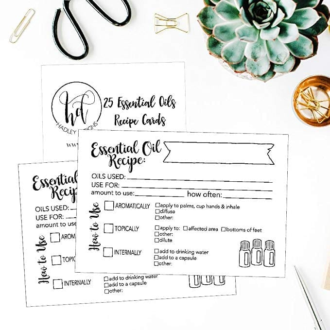 Essential Oil Recipe Cards   The Ultimate Guide to Essential Oil Accessories