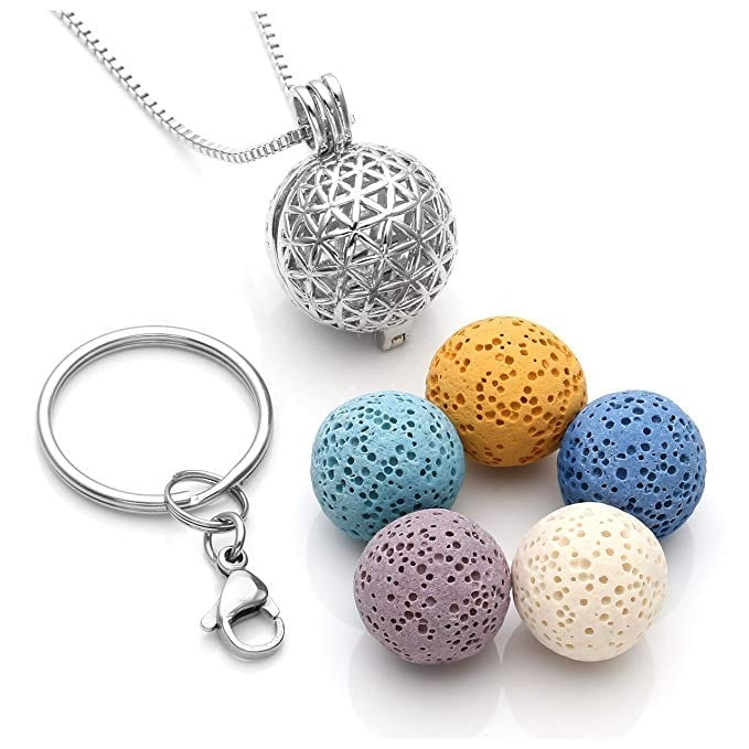 Locket Diffuser Necklace with Lava Beads   The Ultimate Guide to Essential Oil Accessories