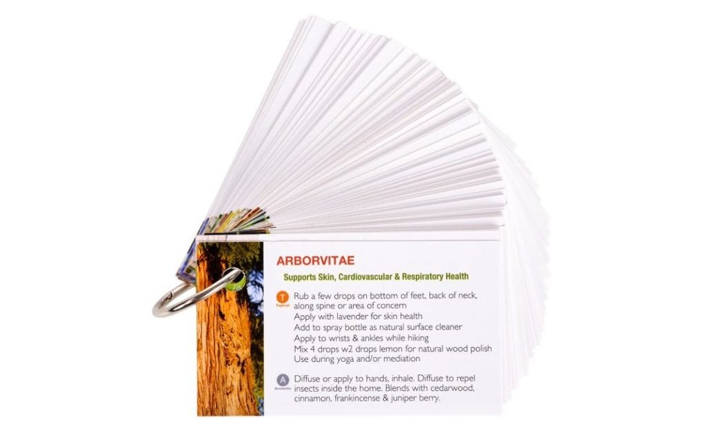 Ring of Essential Oil Reference Cards   The Ultimate Guide of Essential Oil Accessories