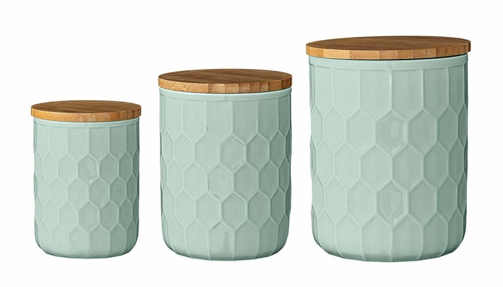 stoneware canisters with bamboo lid | Spring Decor Ideas for Your Home