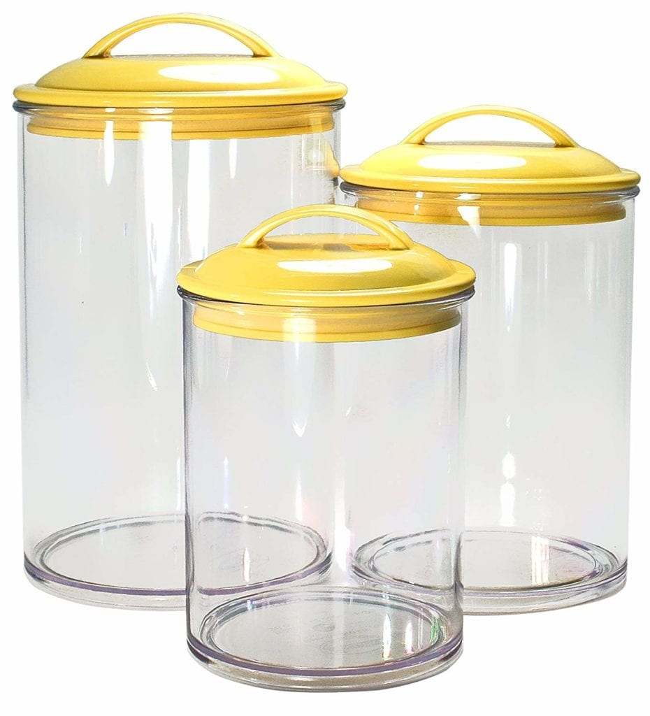 yellow acrylic canisters | Spring Decor Ideas for Your Home