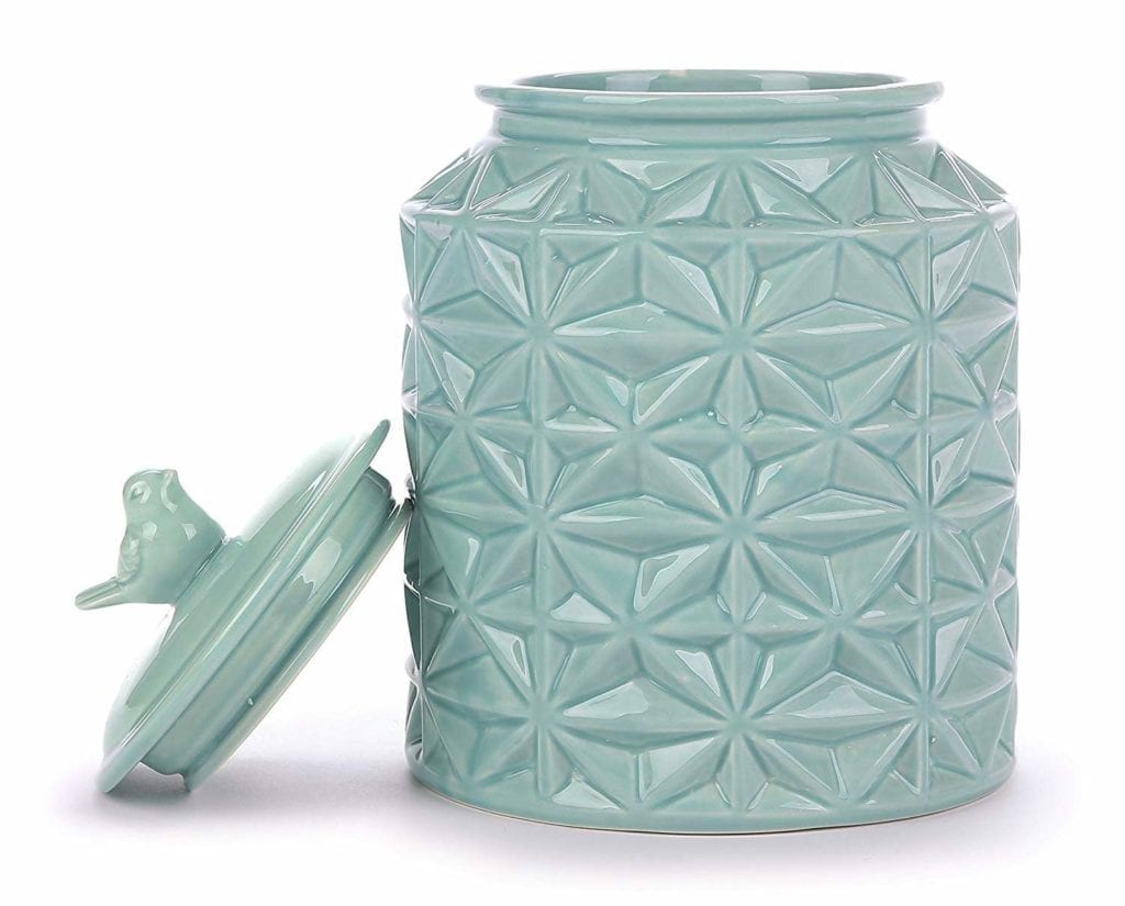 teal ceramic cookie jar | Spring Decor Ideas for Your Home