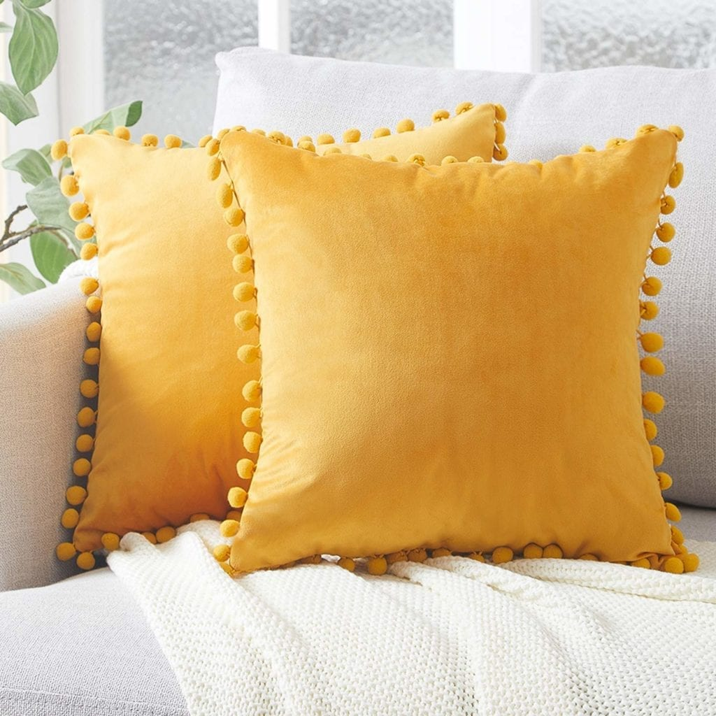 yellow pillows for spring | Spring Decor Ideas for Your Home