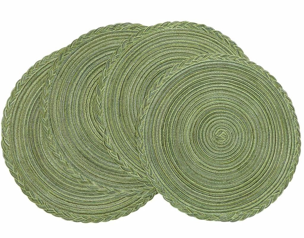 Green cotton placemats | Spring Decor Ideas for Your Home