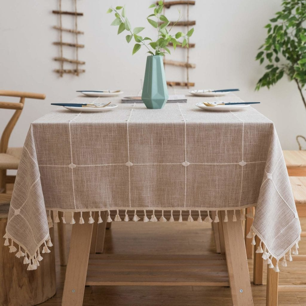 Embroidered Linen Tablecloth | Spring Decor Ideas for Your Home