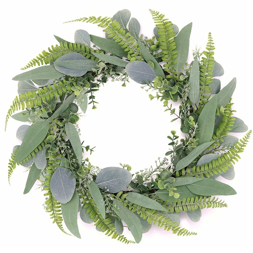 greenery door wreath for spring | Spring Decor Ideas for Your Home