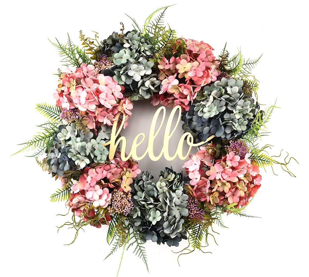 floral door wreath for spring | Spring Decor Ideas for Your Home