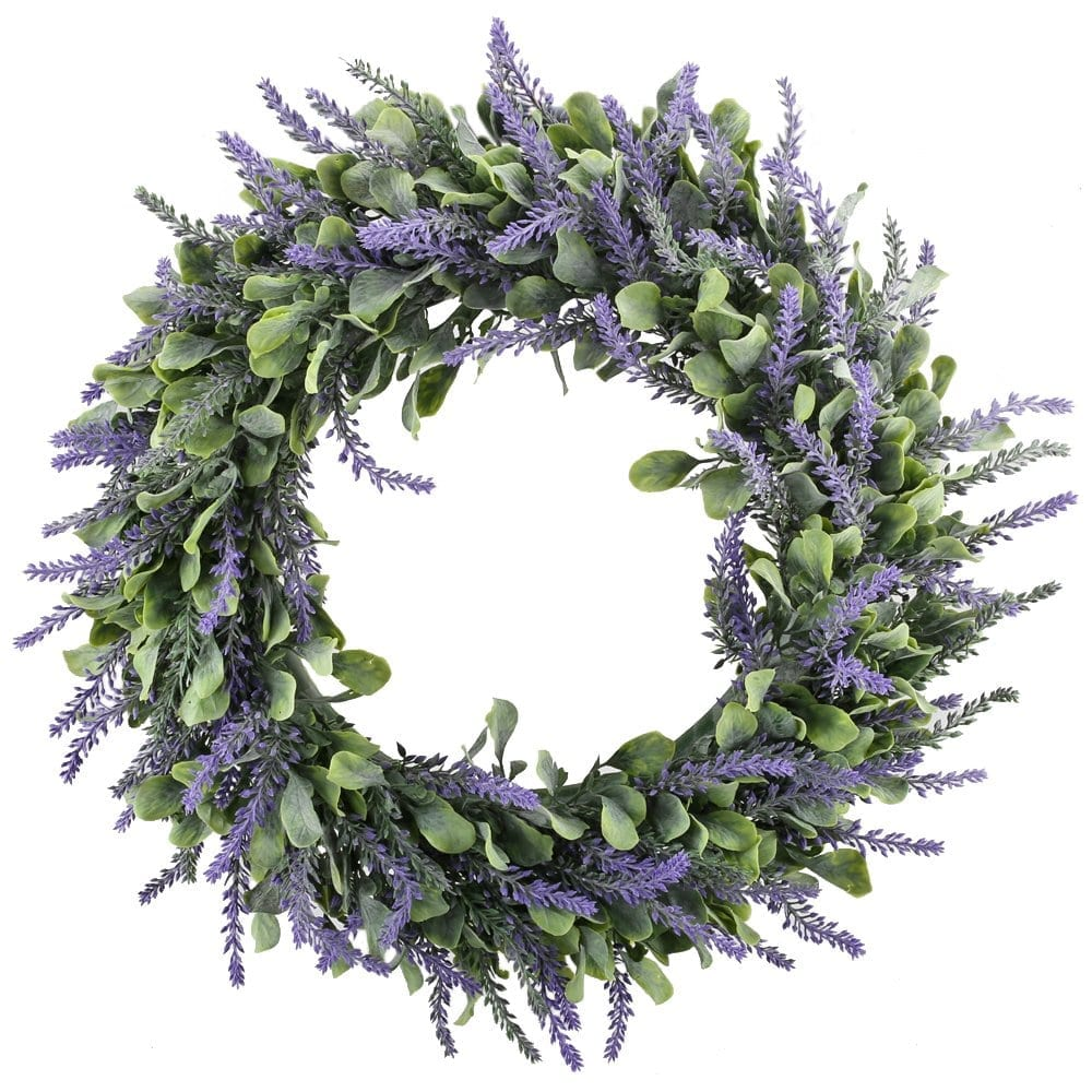 lavender door wreath for spring | Spring Decor Ideas for Your Home