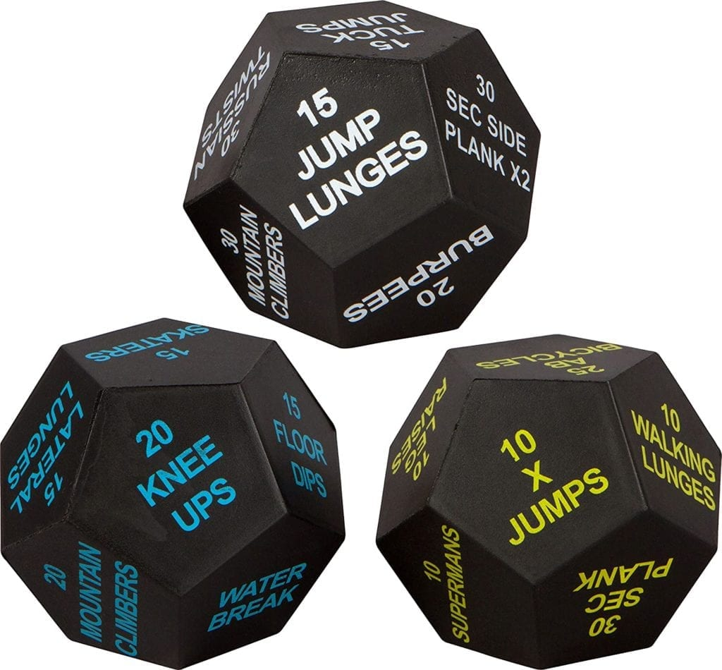 HIIT Workout Dice Game   The Best Home Gym Essentials for a Small Space