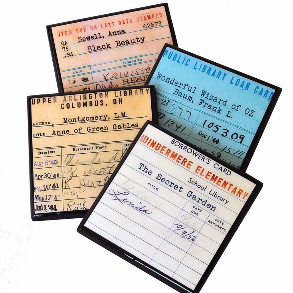 Library Card Coaster Set   Gifts for Book Lovers: The Ultimate Guide
