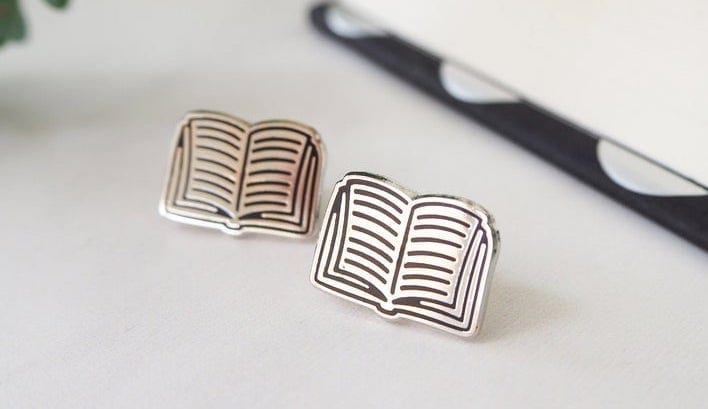 Book Stud Earrings   Gifts for Book Lovers: The Ultimate Guide