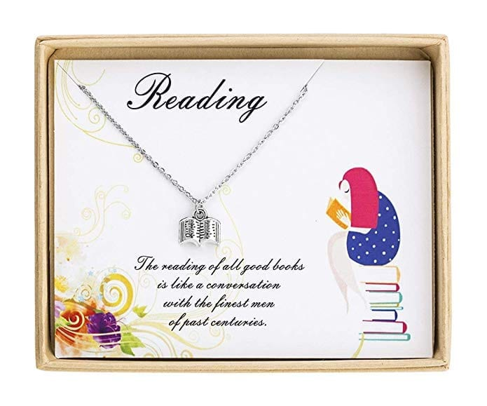Necklace with Book Pendant   Gifts for Book Lovers: The Ultimate Guide