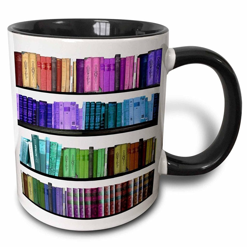 Bookshelf Mug   Gifts for Book Lovers: The Ultimate Guide