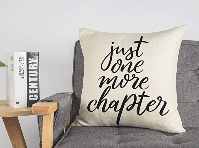 Just One More Chapter Pillow   Gifts for Book Lovers: The Ultimate Guide
