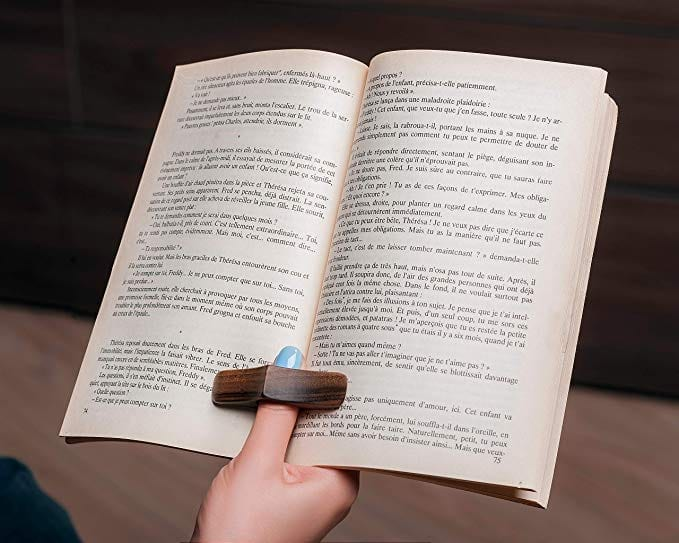 A wooden book page holder   Gifts for Book Lovers: The Ultimate Guide