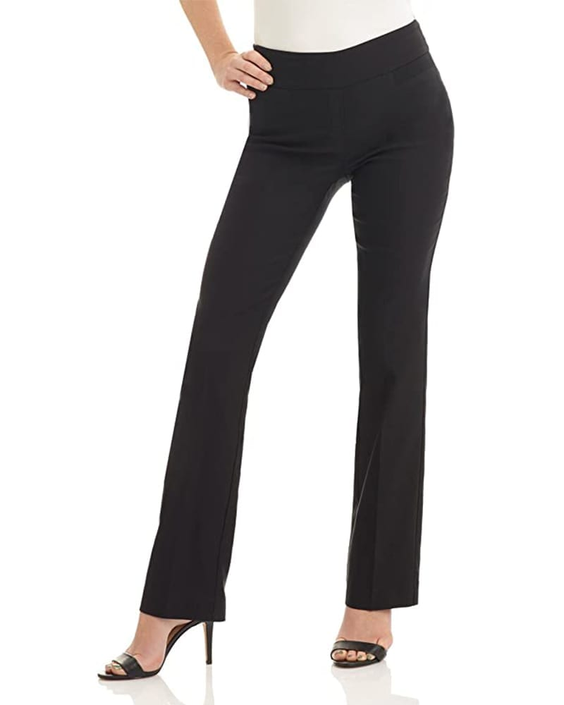 Stretchy Boot Cut Pants   Comfy Work From Home Wardrobe Essentials   The Basic Housewife