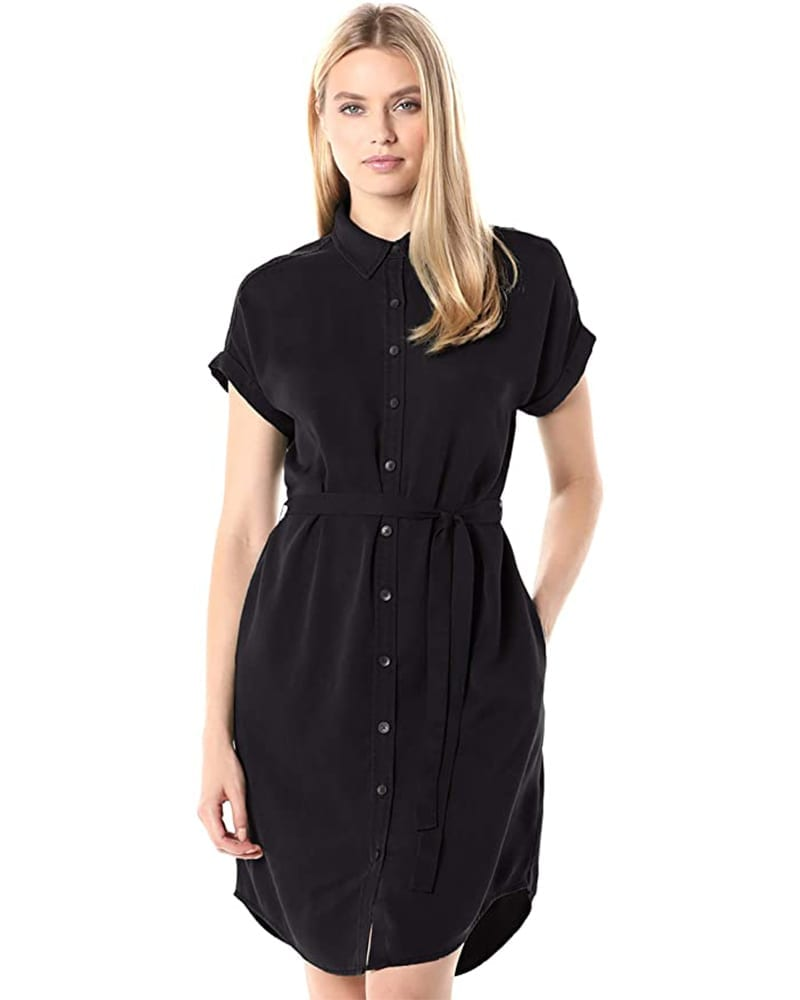 Tencel Button-Up Shirt Dress   Comfy Work From Home Wardrobe Essentials   The Basic Housewife