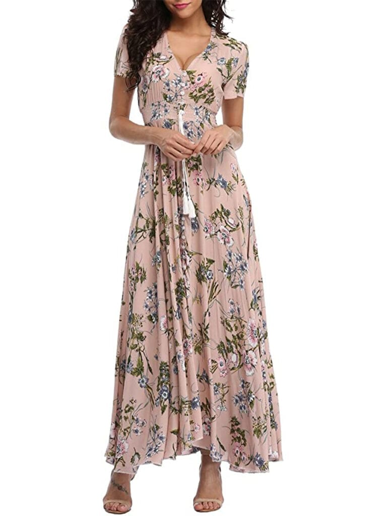 Boho Floral Maxi-Dress   Must-Have Casual Summer Dresses Under $50