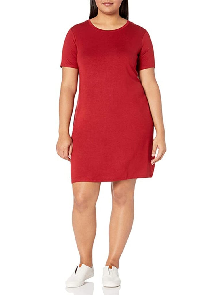 Plus-Size Jersey T-Shirt Dress   Must-Have Casual Summer Dresses Under $50