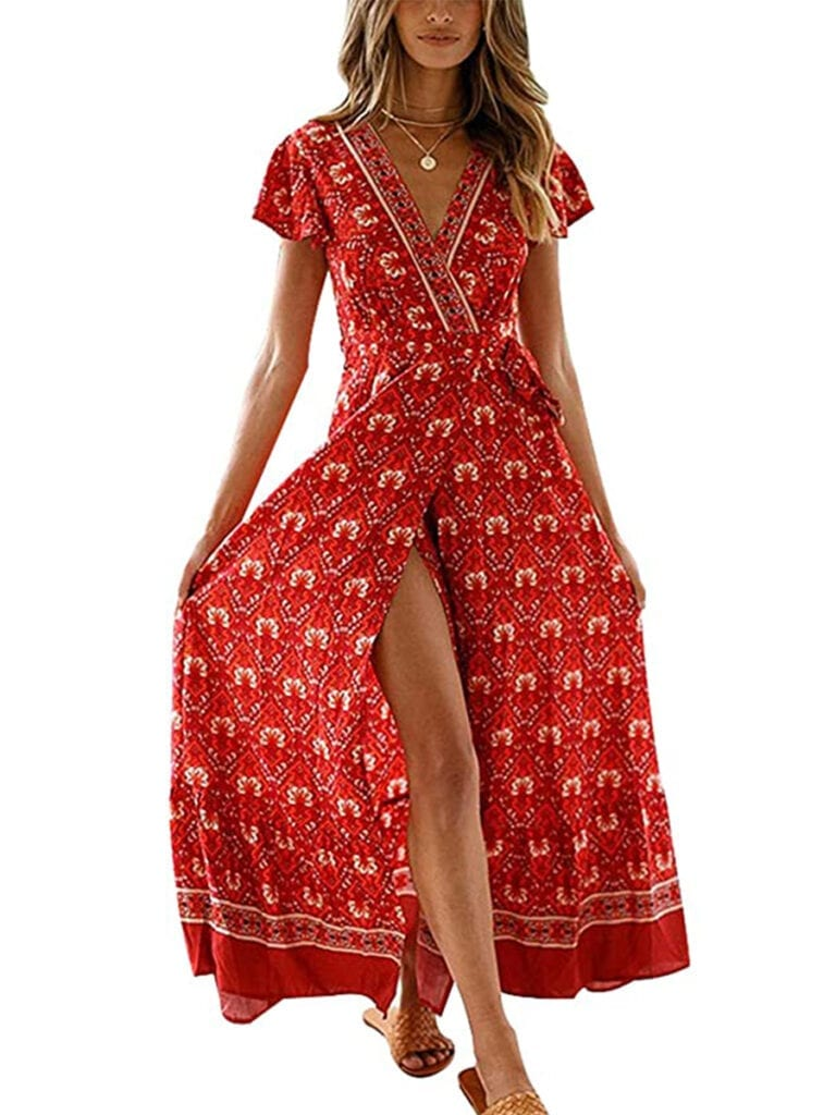 Boho Wrap Maxi Dress   Must-Have Casual Summer Dresses Under $50