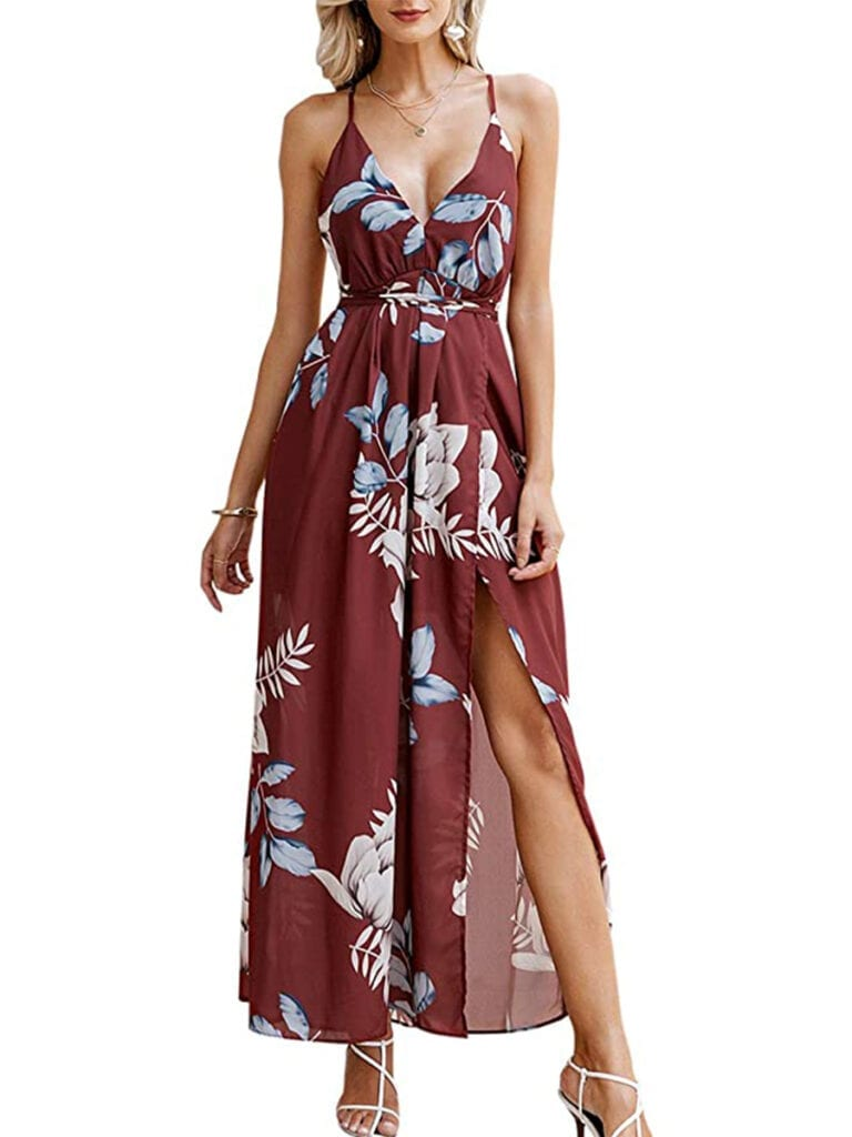 Spaghetti Strap Floral Maxi Dress   Must-Have Casual Summer Dresses Under $50