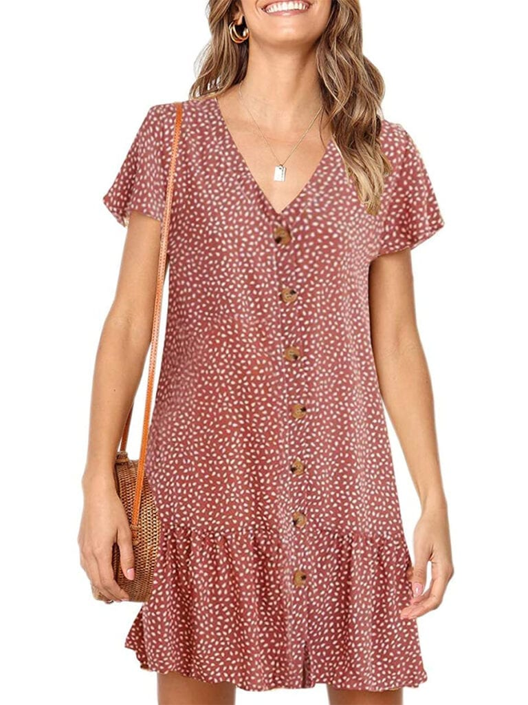Ruffled Button-Down Dress   Must-Have Casual Summer Dresses Under $50
