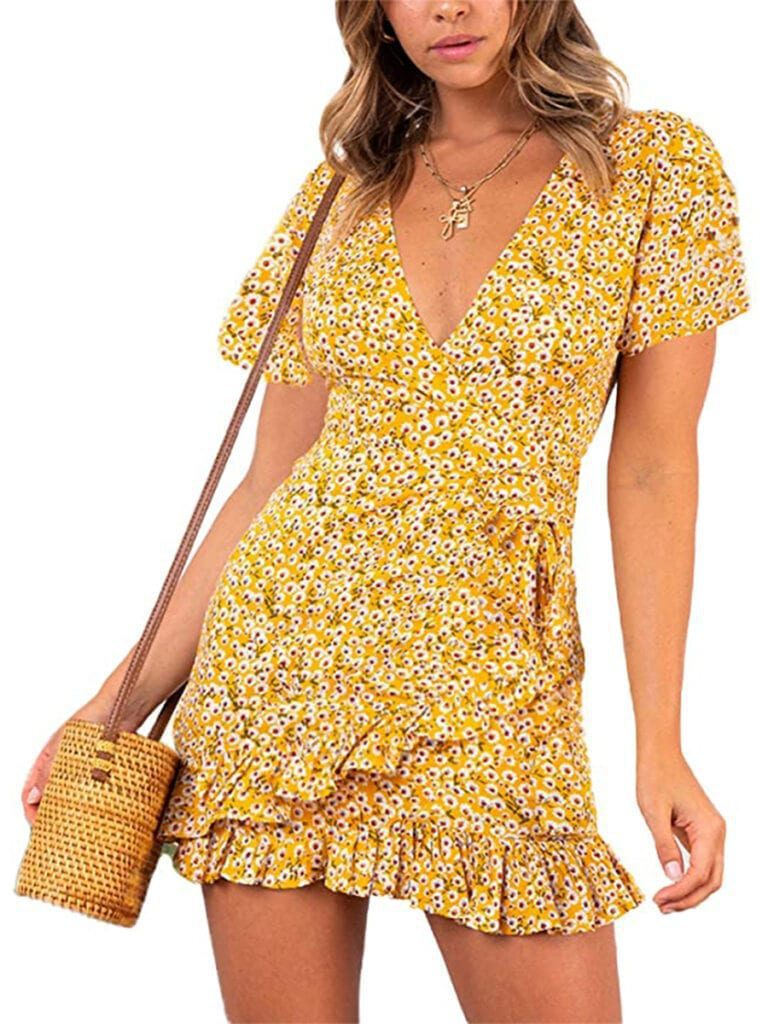 Short Floral Ruffle Dress   Must-Have Casual Summer Dresses Under $50