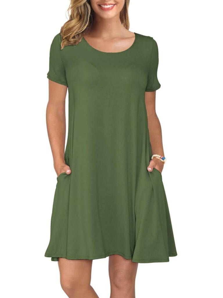 Swing Dress with Pockets   Must-Have Casual Summer Dresses Under $50