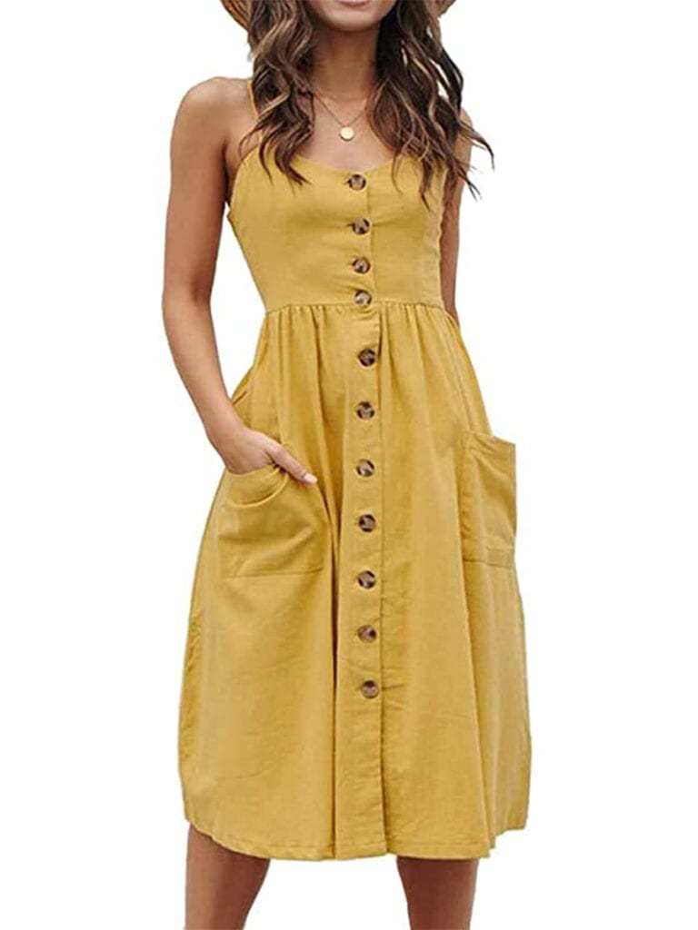 Boho Button-Down Midi Dress   Must-Have Casual Summer Dresses Under $50