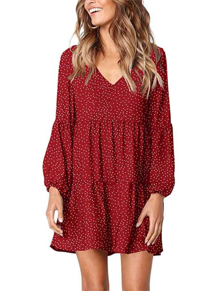 Long Sleeve Boho Swing Dress   Must-Have Casual Summer Dresses Under $50