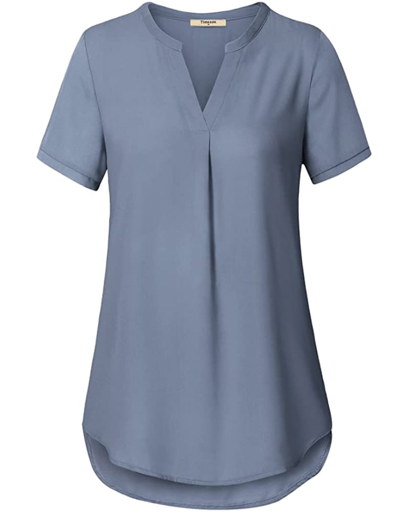 Short Sleeve Chiffon Blouse   Comfy Work From Home Wardrobe Essentials   The Basic Housewife