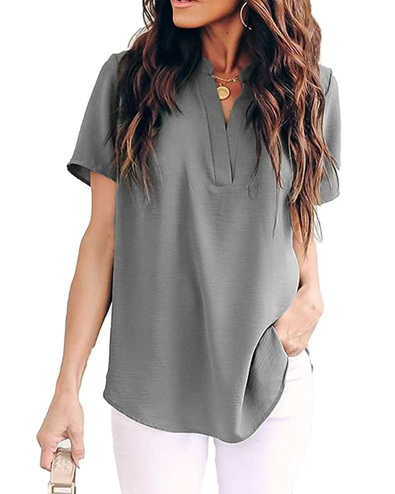 Chiffon Short Sleeve Top   Comfy Work From Home Wardrobe Essentials   The Basic Housewife