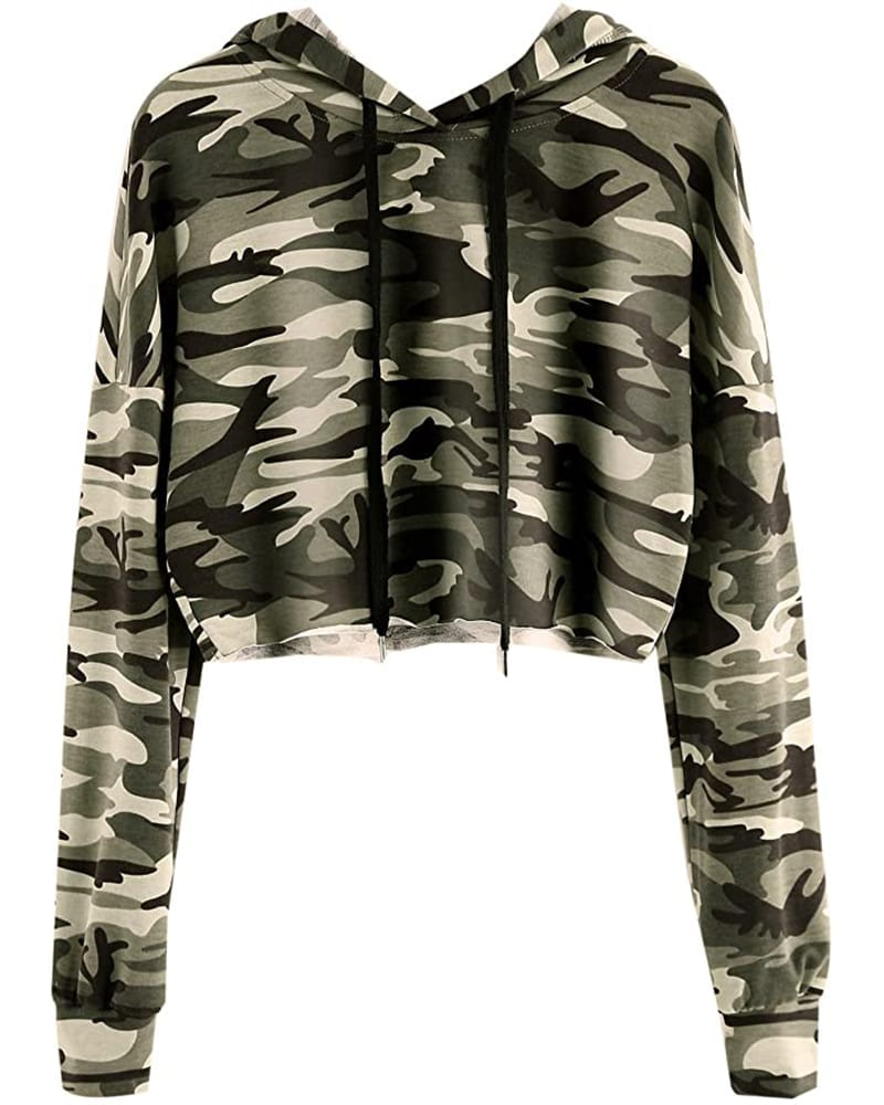 Cropped Army-Print Hoodie   Comfy Work From Home Wardrobe Essentials   The Basic Housewife