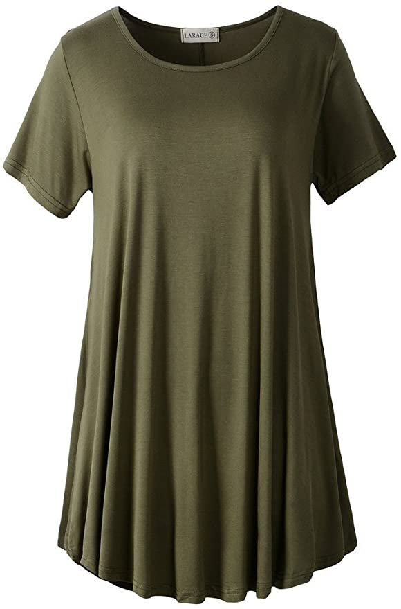 Short Sleeve Flared Tunic Shirt   Comfy Work From Home Wardrobe Essentials   The Basic Housewife