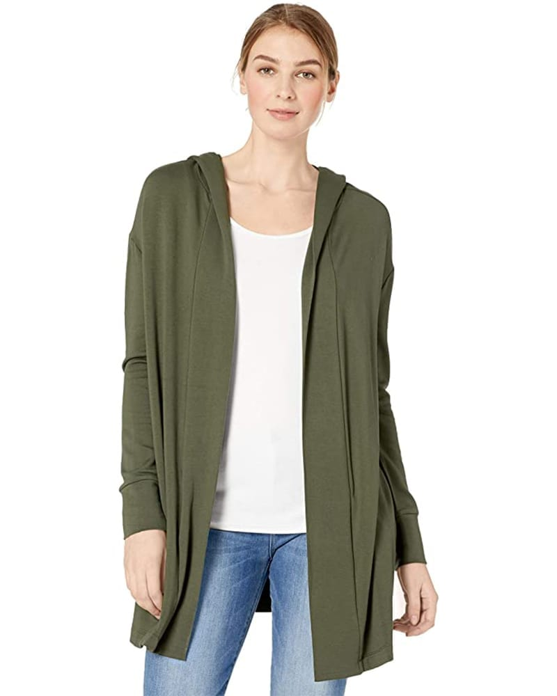Super soft Open Hooded Cardigan   Comfy Work From Home Wardrobe Essentials   The Basic Housewife