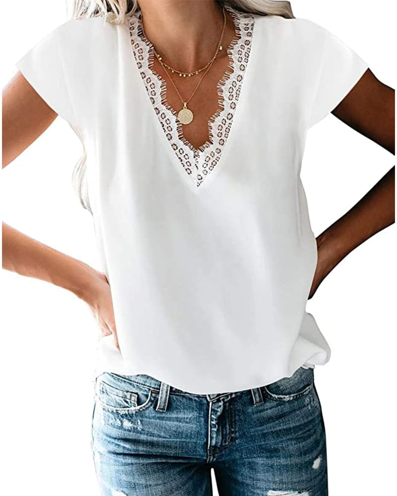 Cap Sleeve Lace-Trimmed Top   Comfy Work From Home Wardrobe Essentials   The Basic Housewife