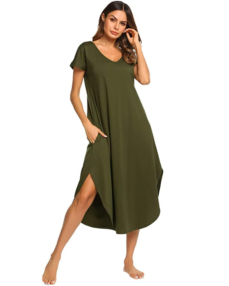 Short Sleeve Maxi Gown   Comfy Work From Home Wardrobe Essentials   The Basic Housewife