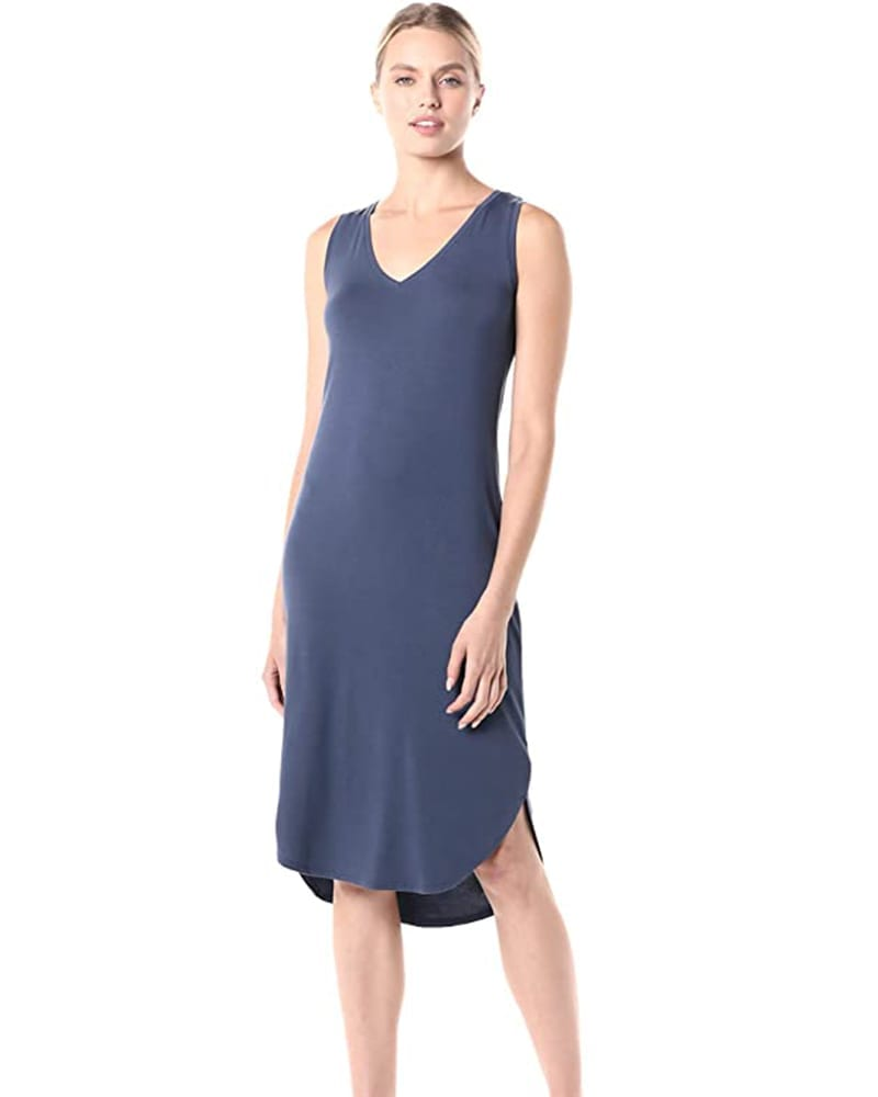 Sleeveless Jersey Midi Dress   Comfy Work From Home Wardrobe Essentials   The Basic Housewife