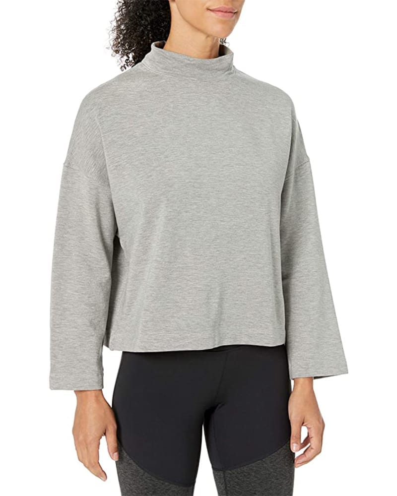 Fleece mock-neck pullover sweater   Comfy Work From Home Wardrobe Essentials   The Basic Housewife