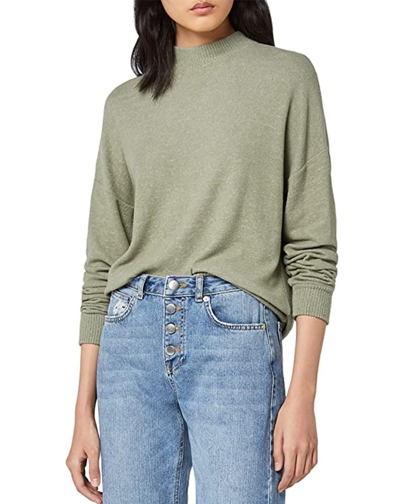 Oversized Mock Neck Sweater   Comfy Work From Home Wardrobe Essentials   The Basic Housewife