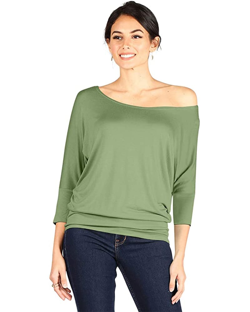 Stretchy off-the-should long sleeve top   Comfy Work From Home Wardrobe Essentials   The Basic Housewife