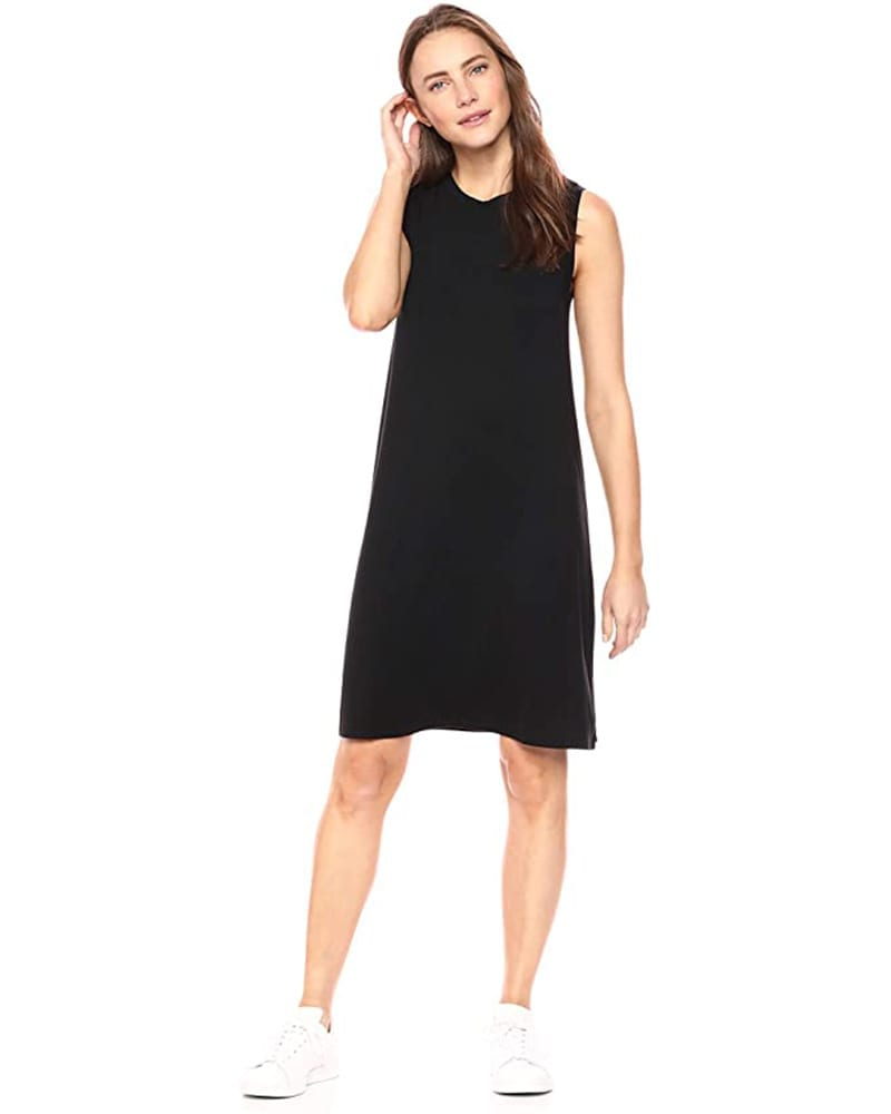 Jersey Sleeveless Swing Dress   Comfy Work From Home Wardrobe Essentials   The Basic Housewife