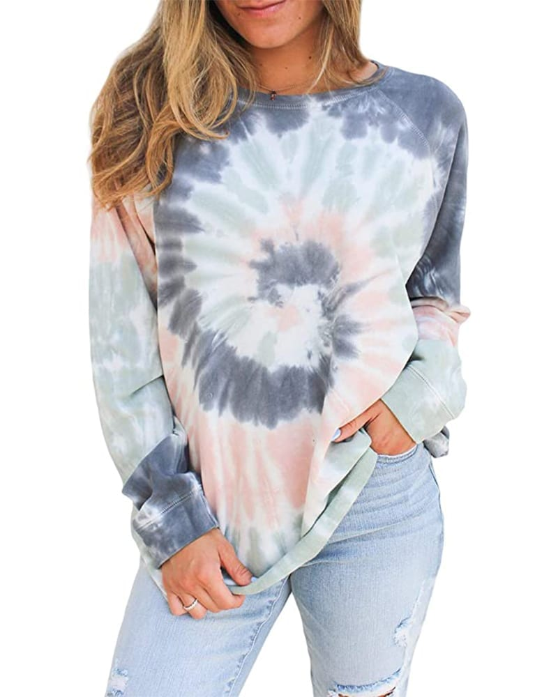 Tie Dye Pullover Sweatshirt   Comfy Work From Home Wardrobe Essentials   The Basic Housewife