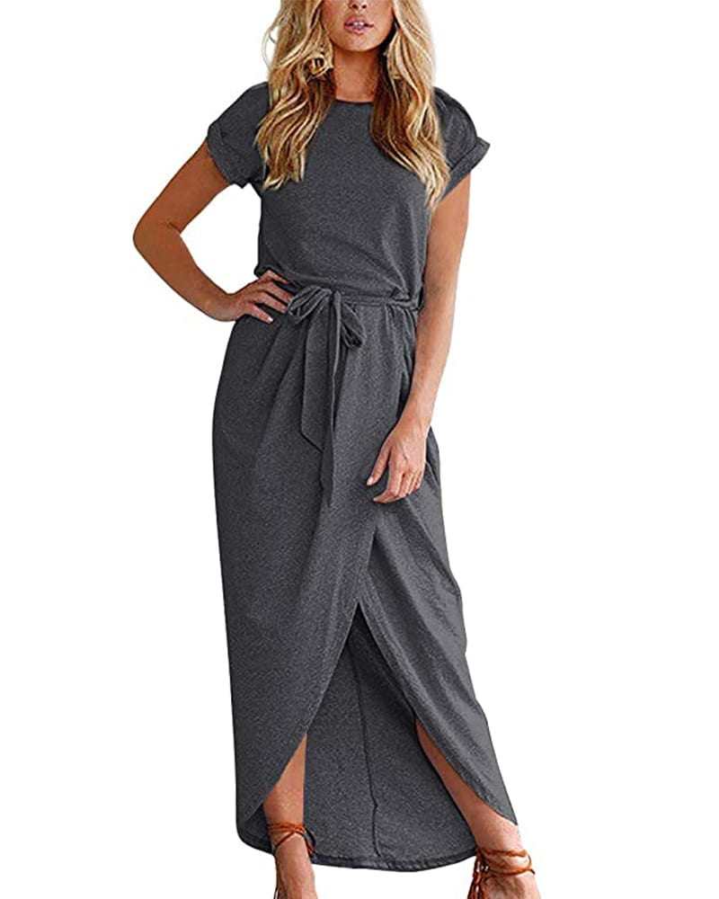 Wrap Style Maxi Dress   Comfy Work From Home Wardrobe Essentials   The Basic Housewife