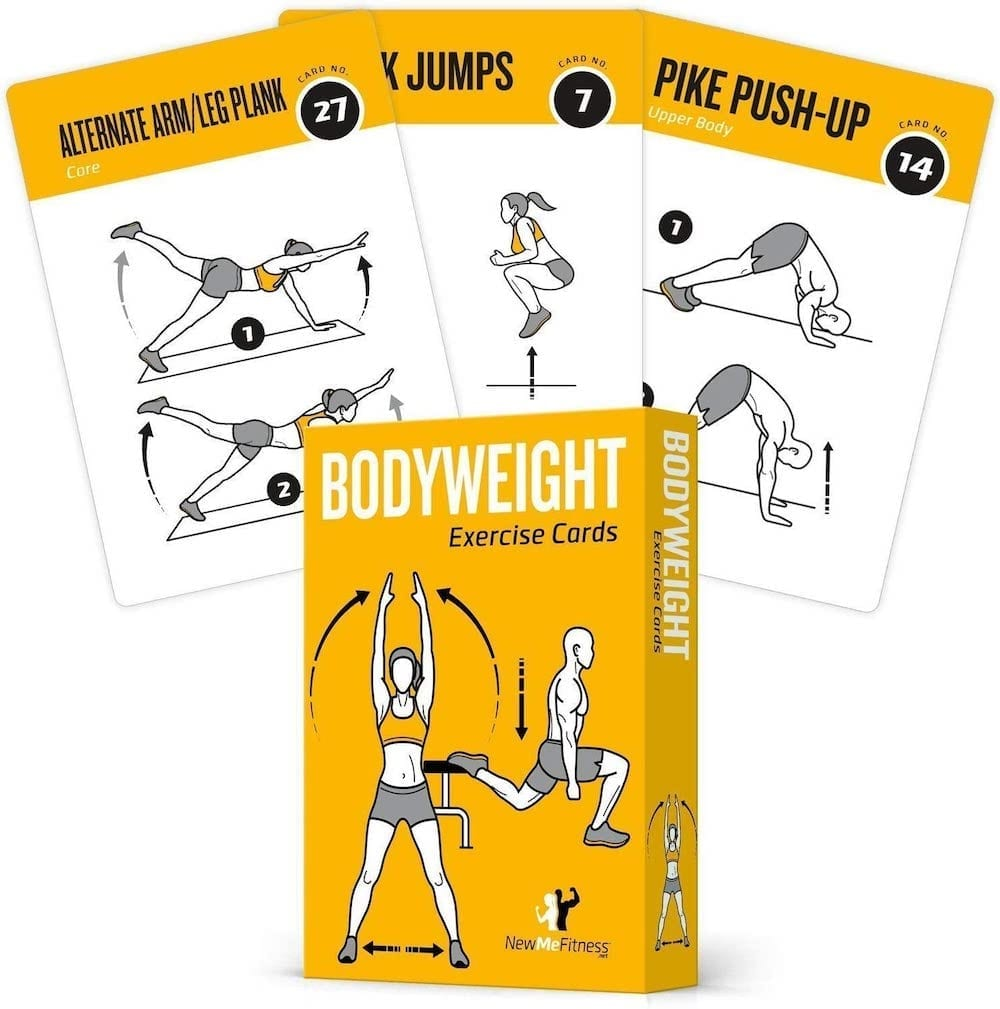 Bodyweight Exercise Cards | Exercise Accessories To Get In Shape At Home