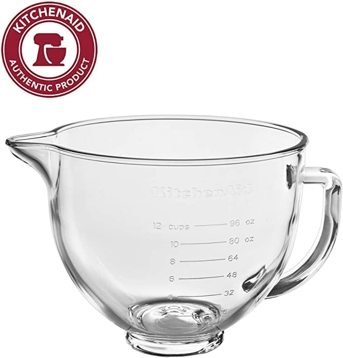 Glass Mixing Bowl Accessory for KitchenAid Stand Mixer